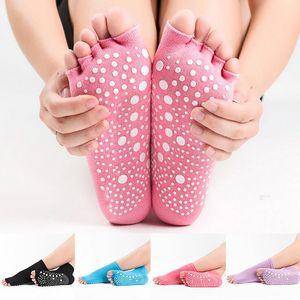 Women Girls Socks Gym Pilates Yoga Non Slip yoga pilates toeless socks Heel Socks Athletic Fitness sox Baby Sock