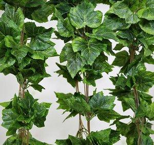 حديقة ديكور 5 قطع الحرير فاينز الحرير الاصطناعي نبات العنب يترك جارلاند فو محاكاة زهرة الروطان الزفاف ديكور المنزل