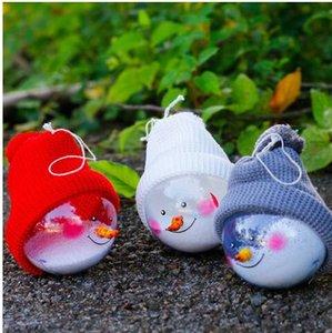 2019 año nuevo ventas al por mayor envío gratuito muñeco de nieve bola navidad adornos decorativos bolas de Navidad adornos conjunto