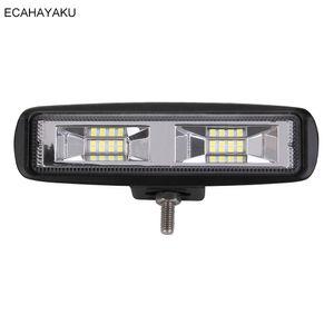 20 pieces Offroad light 6inch 24w led work light Flood Beam 6000k for truck tractor SUV ATV 16-led bar Driving fog Light