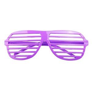 Noel Moda Plastik Shutter Shades Gözlük 24 Çiftleri Gözlük Güneş Gözlüğü Gözlük Halloween Club Parti Cosplay Sahne (Rastgele Renk)