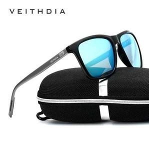 VEITHDIA Marca Unisex Retro Aluminum + TR90 Sunglasses Lente Polarizada Vintage Eyewear Accesorios Gafas de Sol para Hombres / Mujeres 6108
