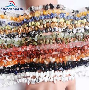 CAMDOE DANLEN Cuentas de Piedras Naturales Cuentas Lrregular 5-8mm Crystal Turquoise Onyx Strand 16 '' Fit Diy Para La Fabricación de Joyas Al Por Mayor