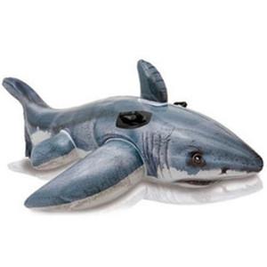 عظيم القرش الأبيض الأطفال نفخ يتصاعد تعويم وتضخيم بواسطة الماء السباحة اللعب على المياه عالية السلبية مقبض اليد 27js dd
