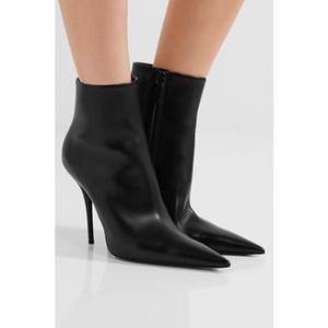 Personnalisé Designer Bottes De Mode Piste Femmes Cheville Botas Bout Pointu Talons Haut Automne Hiver 2017 Western Street Martin Bottes Zapatos