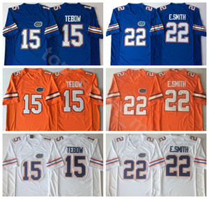NCAA Florida Gators College 15 Tim Tebow Джерси мужчины 22 Emmitt Smith 6 Jeff Driskel футбольные майки университет вышивка синий оранжевый белый