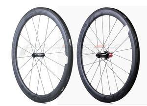 EVO 700C 50mm 깊이 25mm 너비 도로 자전거 카본 휠 클린 처 / UD 무광택 마무리 튜브형 도로 자전거 카본 휠셋
