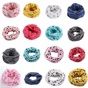 Bébé garçons filles sourire écharpe Bague enfants 2018 automne hiver écharpe mode enfants écharpes 16 couleurs Wraps C4374