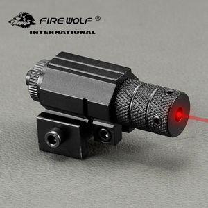 강력한 전술 미니 빨간 점 레이저 시야 범위 위버 Picatinny 마운트 총총 총 권총 총알 설정 Airsoft Riflescope Hunting
