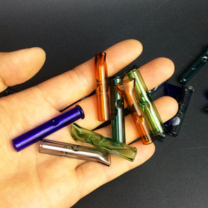 تصفية 8MM الزجاج نصائح Phuncky نصائح يشعر لاليد في مهب التبغ الجاف عشب المتداول أوراق زجاج تلميح تلميح ورقة شجرة السرو هيل Phuncky طول 42MM