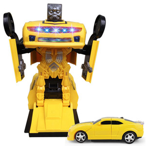Automobili Kid Classic Robot Car Toys Per bambini Action Toy Figure Plastic Education Deformation Boys Gifts