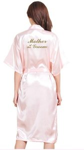 TJ01 большой размер S-3XL золото письмо невесты мать жениха будьте готовы Rbes свадебные подарки партии халат халаты для женщин