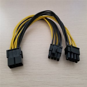 0.2 M PCI-E PCIE 8 p Kadın 2 Port Çift 8pin 6 + 2 p Erkek GPU Grafik Ekran Kartı Güç Kablosu kablosu 18AWG Tel