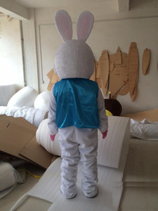 2018 Hot sale Professional Halloween Easter Bunny Mascot Costumes Rabbit Adult Size Easter Christmas