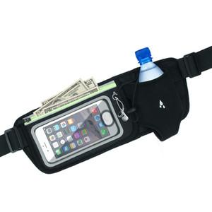 Correndo Saco Sports Belt Com Saco de Garrafa de Água Sensível Ao Toque Da Tela de Toque Para Telefones Inteligentes Para A Execução de Caminhadas Equitação Escalada de Fitness