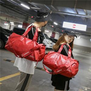Red Multifunction Black Travel Travel Capacity Lage Cabin Unisex Bag Bags Reistas 2018 PU Duffle Large Fashion Women Bag Qujji