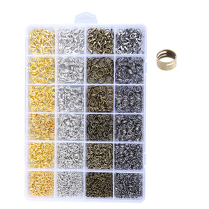 4mm 5mm 6mm 7mm 8mm Anéis de Salto Aberto 12mm * 7mm Fechos Da Lagosta Bronze Ouro Níquel Jóias de Cor Preta Fazendo Kit D818L