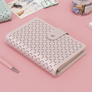A6 Couro Viajantes Notebook Designer De Moda Notebook Planejador 6 Furos Anéis Em Espiral Notebook Diário Diário Defter HJW152
