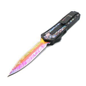 Skarabäus schwarzes Muster Abalone Griff 9 Modelle Klinge double action taktischen Jagdmesser Weihnachtsgeschenk Messer ECS000366