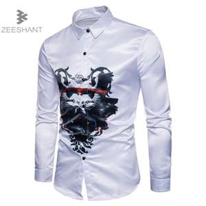 Zeeshant smoking shirt camicia classica per uomo slim fit stile maschio casual mens manica lunga in smoks smoking da uomo XXL