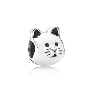 Kedi Büyük Delik Gevşek Boncuk Chamilia boncuk moda aksesuarları çekicilik Pandor DIY Takı Bilezik Avrupa Bileklik Gerdanlık Ücretsiz nakliye