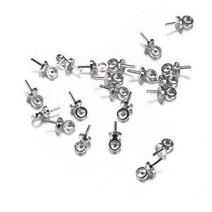 100 adet / grup 6 * 3mm pin Boncuk Kapakları Gümüş Renk Sonu Kıvrım Boncuk DIY Takı Bulguları için Caps Caps