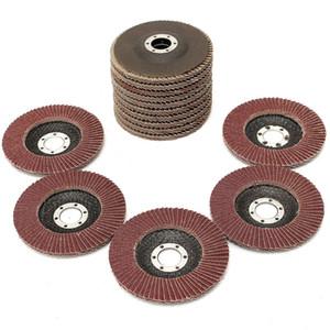 Freeshipping 15Pcs lot Flap Discs 115mm 4.5 Sanding Discs 40 60 80 Grit Grinding Wheels Discs Angle Grinder Jewerly Polishing Tools