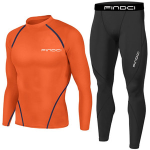 Findci 2PCS/Set Compression Pants Women Running Tights Trousers Shirt Set Fitness Pants Elastic Marathon Quick-drying Base layer