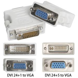 Toptan Yeni DVI 24 + 1 24 + 5 Erkek VGA Kadın Adaptörü Video Dönüştürücü Fiş DVD HDTV TV PC Dizüstü