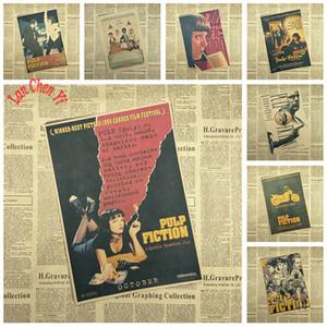Nostálgico Mate Papel Kraft Poster Pulp Fiction Cafe Papel tapiz creativo Decoración Interior Envío Gratis