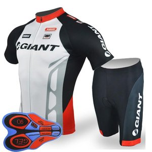 GIGANTE equipe Ciclismo Mangas Curtas jersey (babador) shorts conjuntos de bicicleta equitação verão desgaste respirável roupas ropa ciclismo 9D gel pad F2005