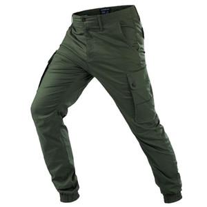 Yeni Rahat Pantolon Erkekler Sonbahar Pantolon erkek Taktik Büyük Cep Kargo Pantolon Erkek hafif Su Geçirmez Pantolon