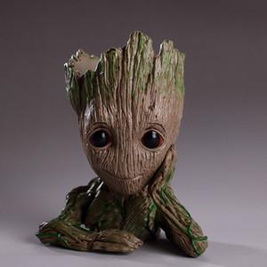 Guardians Galaxy Kalem konteyner 15 cm Bebek Groot Şekil Saksı Oyuncak Çiçek Kalem Pot Xmas Hediye