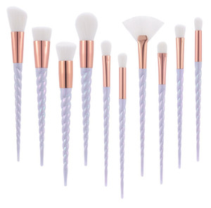 Unicorn Thread Maquillage Brushes Professional Make Up Brushes Fibre Brush Set Maquillage Outils Sourcils Eyeliner Poudre Brushes