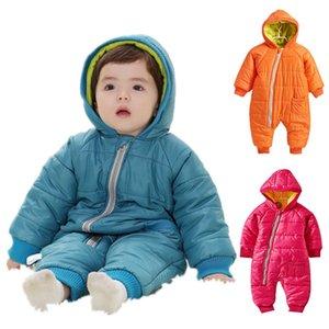 Snowsuit Bebek Kar Pamuk Yastıklı Tek Parça Sıcak Giyim çocuk Tulumları giymek Romper Çocuklar Kış Tulum Yenidoğan Parkas Y18102208