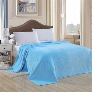 Neue Design-Fleece Blanket Sommer Solid Color super warme weiche Decken-Wurf auf Sofa / Bett / Reise Plaids Tagesdecken Bettwäsche