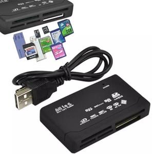 الكل في واحد ميني قارئ بطاقة ذاكرة USB 2.0 متعدد في 1 عالمي خارجي SD SDHC ميني مايكرو M2 MMC XD CF MS الشحن DHL