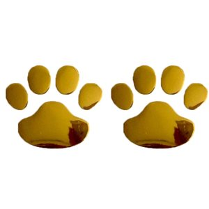 100pcs Car Sticker Cool Design Paw 3D Animal Dog Cat Bear Foot Prints Footprint 3M Decal Car Stickers Silver Gold Red Black