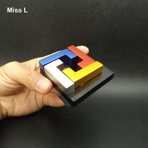 Kid Gift Collection Colorful Aluminium Alloy Metal Cast Puzzle Brian Teaser Intelligence Game Toys For Children
