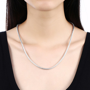 Collar de acero inoxidable 100% Fit Pandora para hombre / mujer Cadena de serpiente redondo 2 mm 18/20/22/24/28 pulgadas