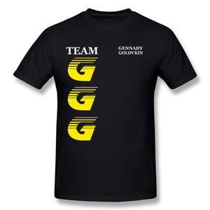 Toptan Yetişkin% 100% Pamuk Takım GGG T-Shirt Yetişkin Crewneck Sarı Kısa Kollu Gömlek Bluz S-6XL 3D Baskılı T-Shirt