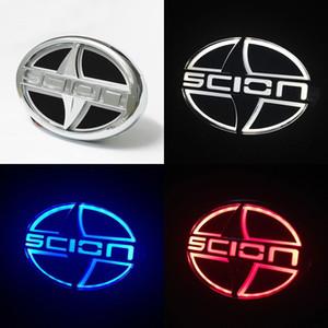 Scion 12.5 cm X 8.5 cm araba 5D led logo rozeti ışık scion logo marka led amblem işık 5d amblem lamba w