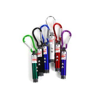 Mini 3 en 1 LED pointeur de lumière laser porte-clés torche lampe de poche détecteur de l'argent la lumière simple opp enseignement 200pcs / lot