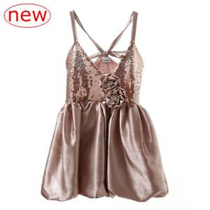 INS 2-6Y Yaz Çocuklar Kızlar dantel Sequins Noel Tutu Ruffles Elbise Tatlı Bebek Yeni Yaz Sonbahar Kış Kolsuz Elbise Çiçek giyim