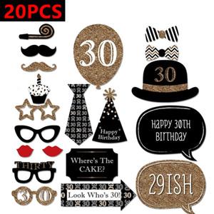 30th 40th 50th Happy Birthday Party Decorations Photo Booth Props 30 40 50 Years Man Woman Trenta decorazioni di compleanno