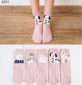 El envío libre 60 muchachas grandes patrones calentador de la pierna Fox de algodón lindo de la rodilla poco carácter calcetines del cabrito Ropa unisex niño de arranque calcetines de la historieta
