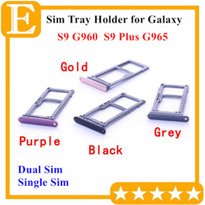 Reemplazo de la ranura del sostenedor de la bandeja de la tarjeta de memoria del doble SIM Sim doble 100% nuevo para el Samsung Galaxy S9 G960 VS S9 más G965 50PCS