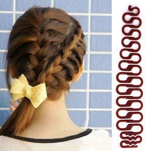 3 Renkler Fransız Saç Örgü Aracı Centipede Braider Rulo Kanca Ile Sihirli Saç Büküm Şekillendirici Maker Saç DIY Aracı