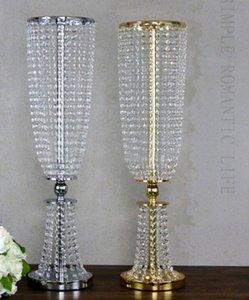 fornitura di nozze in metallo cristallo perlina banchetto tavolo centrotavola colore oro argento partito decorare lampadario