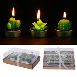 Non-déversement Mini Cactus Bougie Décorative Lumière De Thé Bougies pour Xmas Party Hallowmas De Mariage Décoration De Table D'anniversaire Décor Cadeaux